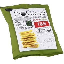 TooGood Snack poppé soja & pomme de terre saveur tomate & herbes le paquet de 25 g