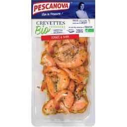 Crevettes cuisinées BIO tomate et thym