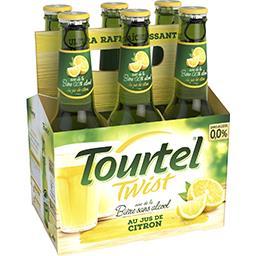 Tourtel Twist Tourtel Bière sans alcool - Arômatisée citron les 6 bouteilles de 27,5cL