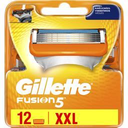Gillette Gillette Fusion5 lames de rasoir pour homme 12recharges La boîte de 12 lames