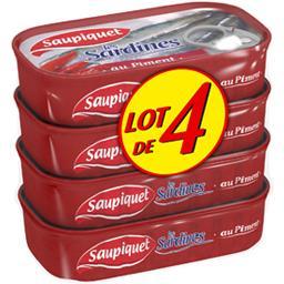 Saupiquet Les Sardines au piment les 4 boites de 120 g