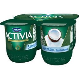 Activia - Lait fermenté saveur coco