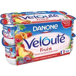 Velouté Fruix - Yaourt brassé fraise framboise pêche...