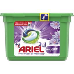 Ariel Lessive en capsules touche de lenor