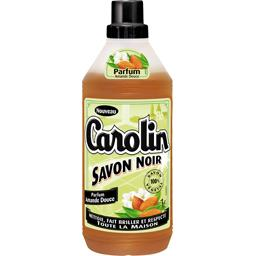 Nettoyant savon noir parfum amande douce