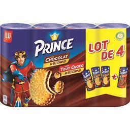 LU Prince - Biscuits au blé complet fourrés goût tout choco le lot de 3 paquets 1kg200
