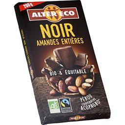 Alter Eco Alter Eco Chocolat noir aux amandes entières BIO & équitable la tablette de 200 g