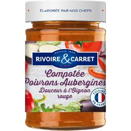 Compotée poivrons aubergines douceur à l'oignon rouge