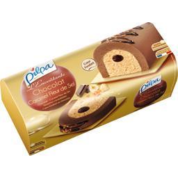 Pilpa Bûche glacée L'Envoûtante chocolat caramel fleur de ... la bûche de 1 l