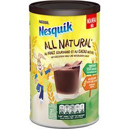 Nesquik Nesquik All Natural - Chocolat en poudre instantanée cacaotée et maltée la boite de 400g