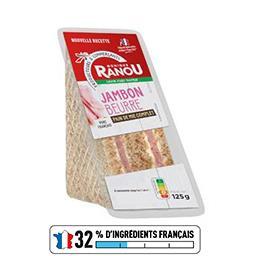 Sandwich jambon supérieur beurre - Mon Snack !