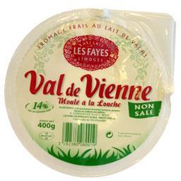 Val de vienne, fromage blanc moulé à la louche, sans sel