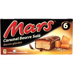 Mars Mars Barres glacées caramel beurre salé les 6 barres de 45 ml
