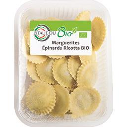 L'Italie du Bio Marguerites épinards ricotta BIO la barquette de 250 g