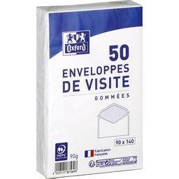 Oxford Oxford Enveloppe 90x140 gommee de visite le lot de 50