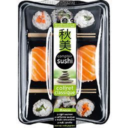 Coffret sushi saumon