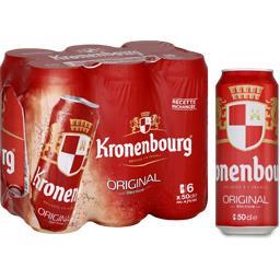 Kronenbourg Kronenbourg Original - Bière blonde les 6 canettes de 50 cl