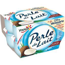 Yoplait Perle de Lait - Yaourt saveur coco les 8 pots de 125 g - offre découverte