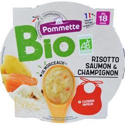 Risotto saumon & champignon BIO, dès 18 mois