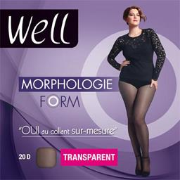Morphologie - Collant Form transparent -1 M 65 noir
