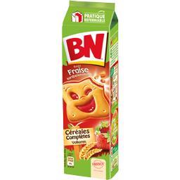 BN BN Biscuits fourrés à la pulpe de fraise le paquet de 295 g