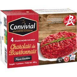 Steaks hachés pur bœuf Charolais du Bourbonnais 12% MG