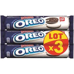 Oreo Oreo Biscuits cacaotés Double fourrés vanille les 3 paquets de 157 g