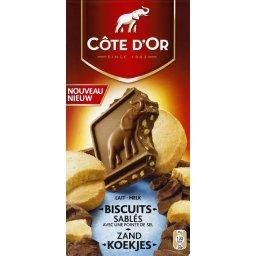 Chocolat au lait biscuits sablés avec pointe de sel