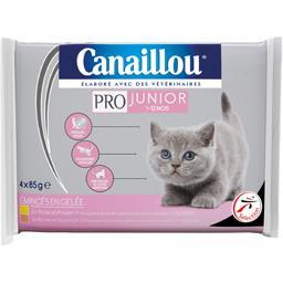 Emincés en gelée poulet/saumon pour chats 1-12 mois