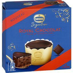 Nestlé Dessert glacé Royal Chocolat sauce au chocolat noir la boite de 4 pots - 440 ml