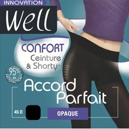 Accord Parfait - Collant opaque confort noir T1