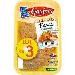 Le Gaulois Panés de poulet le lot de 3 barquettes de 200 g