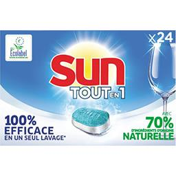 Sun Sun Tout-En-1 pastilles lave vaisselle Regular la boîte de 24 tablettes