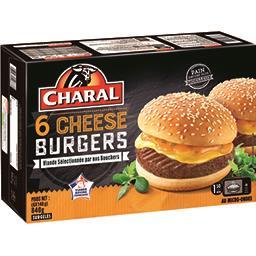Charal Charal Cheese Burgers les 6 Cheese Burgers de 140 g