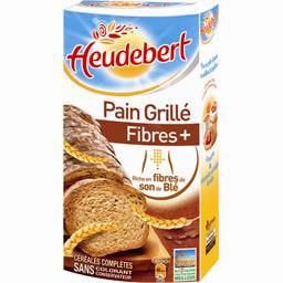 Heudebert - Pain grillé Fibres + riche en fibres, cé...