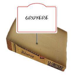 Le gruyére réserve AOC 45% de MG