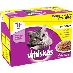 Whiskas Whiskas Sélection à la volaille en gelée pour chats 1+ an les 12 sachets de 100 g