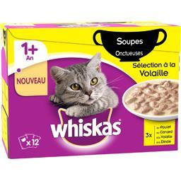 Soupes onctueuses sélection à la volaille pour chats