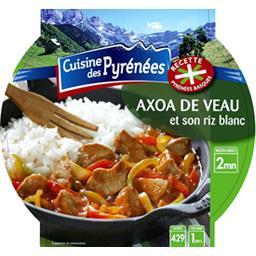 Axoa de veau et son riz blanc