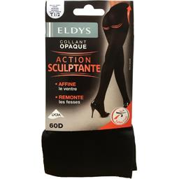 Collant opaque action sculptante T 3/4 60 D noir