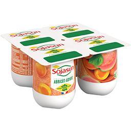 Sojasun Sojasun Fruits Mixés - Dessert végétal abricot goyave les 4 pots de 100 g