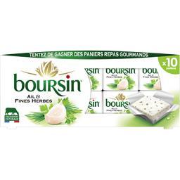 Boursin Boursin Fromage portion ail & fines herbes les 10 portions de 16 g