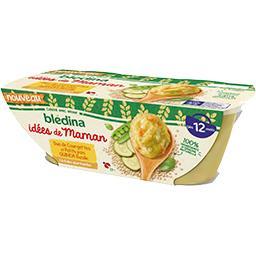 Les Idées de Maman - Duo de courgettes et petits pois quinoa basilic, dès 12 mois