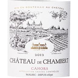 Cahors Château de Chambert vin Rouge 2012
