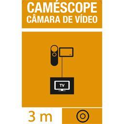 Cordon caméscope 3 x 3 RCA mâles 2 audio + vidéo 750 hms
