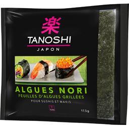 Tanoshi Tanoshi Feuilles d'algues Nori grillées pour sushi le sachet de 7 feuilles - 17,5 g