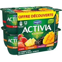 Yaourts panaché fruits Activia