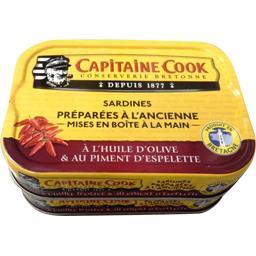 Capitaine Cook Sardines à l'ancienne à l'huile d'olive & piment d'E... les 2 boites de 115 g