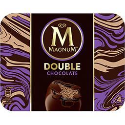 Magnum Magnum Bâtonnets de glace Double chocolat la boite de 4 - 352 ml