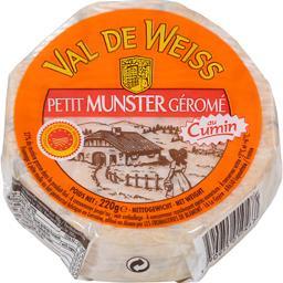 Val de Weiss Petit Munster Géromé au cumin le fromage de 220 g